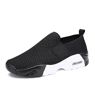 בגדי ריקוד גברים PU אביב / סתיו נוחות נעלי אתלטיקה הליכה לבן / שחור