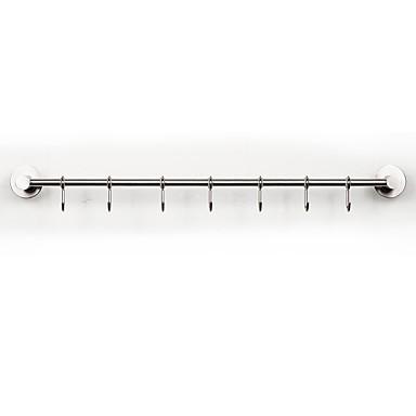 rustproof 3m עצמית דבק 304 # נירוסטה במטבח מוט מוט מוט מתכת קולב אמבטיה וו מוברש ניקל 3m04-60cm