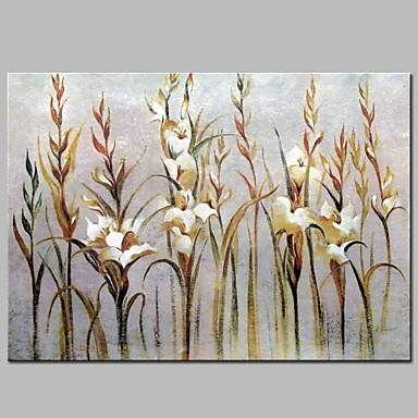 ציור שמן צבוע-Hang מצויר ביד - פרחוני / בוטני קלסי בַּד