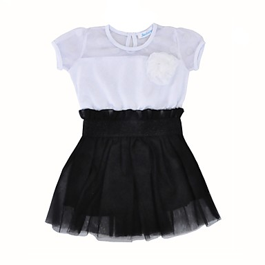 6df7bfbfa فستان كم قصير ألوان متناوبة كاجوال / رياضي Active للفتيات طفل صغير / قطن