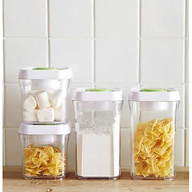 חומר מעורב אחסון קופסאות אחסון 4pcs ארגון המטבח