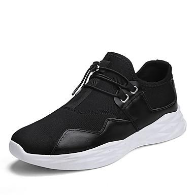 בגדי ריקוד גברים טול אביב / קיץ נוחות נעלי ספורט לבן / שחור / אדום