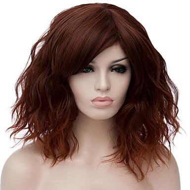 ... Ondulado Pequeño Rojo Rubio oscuro Rosa Negro   verde oscuro Pelo  sintético Mujer Rojo   Azul   Rubio Peluca Corta Sin Tapa   Verde   Marrón    Morado 5231d5cc024a
