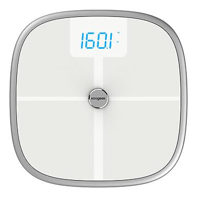 koogeek FDA אישר חכם בריאות בקנה מידה Bluetooth wi-Fi סנכרון אמצעים שריר העצם BM BM BMR ו שומן הקרביים משקל הגוף שומן במים 16 משתמשים הכרה