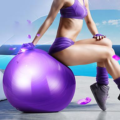 55 cm Treningsball / yogaball Profesjonell, Eksplosjonssikker PVC Brukerstøtte 500 kg Med Fotpumpe Fysioterapi, Balanseopplæring, Stabilitet Til Yoga & Danse Sko / Trening & Fitness / Treningssenter