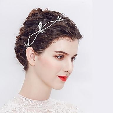סגסוגת אביזר לשיער עם קריסטל 1pc חתונה / אירוע מיוחד כיסוי ראש