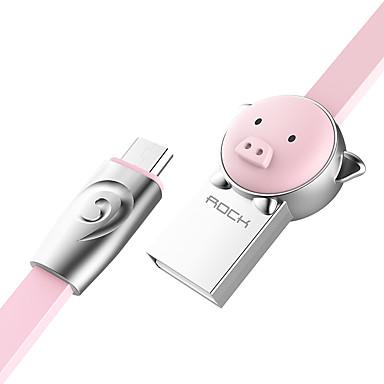 מיקרו USB מתאם כבל USB תשלום מהיר כבל עבור סמסונג / Huawei / LG 100 cm עבור סגסוגת אבץ