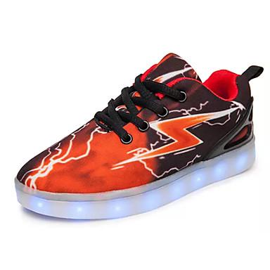 בנים נעליים PU אביב / סתיו נוחות נעלי ספורט ל שחור אדום / שחור / כחול / כתום ושחור / קולור בלוק / גומי