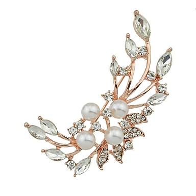 בגדי ריקוד נשים תפס לשיער - פרח פשוט, בסיסי סִכָּה זהב עבור יומי / שנה חדשה