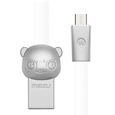 מיקרו USB מתאם כבל USB תשלום מהיר כבל עבור סמסונג / Huawei / LG 100 cm עבור סגסוגת אבץ / TPE