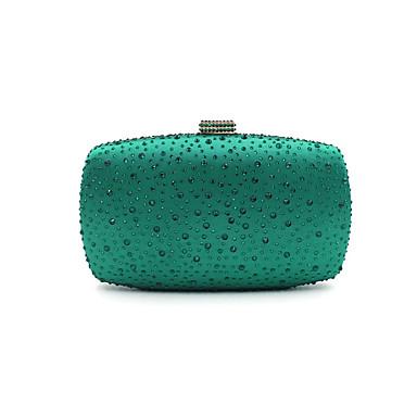 abordables Sacs-Femme Détail Cristal Métal Pochette Sacs de soirée en cristal strass A Fleur Vert / Noir / Argent