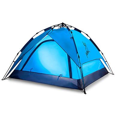 JUNGLEBOA® 3-4 Pessoas Cabana de Praia Tenda Duplo Barraca de acampamento Um Quarto Tenda Automática Prova-de-Água Portátil Á