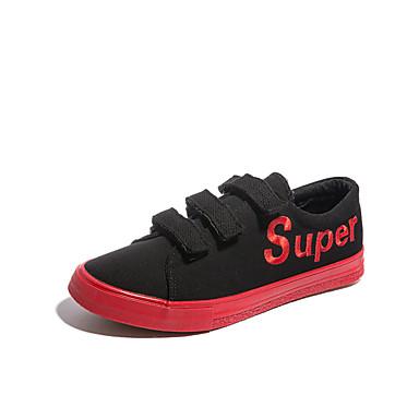 בגדי ריקוד גברים קנבס אביב / סתיו נוחות נעלי ספורט שחור / שחור לבן / שחור אדום