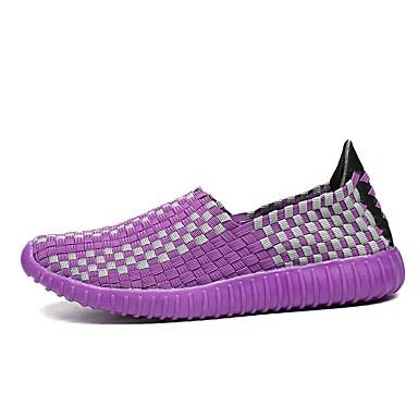 בגדי ריקוד נשים נעליים גומי אביב / סתיו נוחות נעלי אתלטיקה שטוח בוהן עגולה סגול / פוקסיה / ירוק