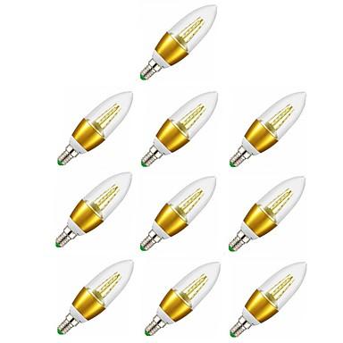 10pcs 7W 600lm E14 נורות נר לד C35 35 LED חרוזים SMD 2835 דקורטיבי אור LED לבן חם 220-240V