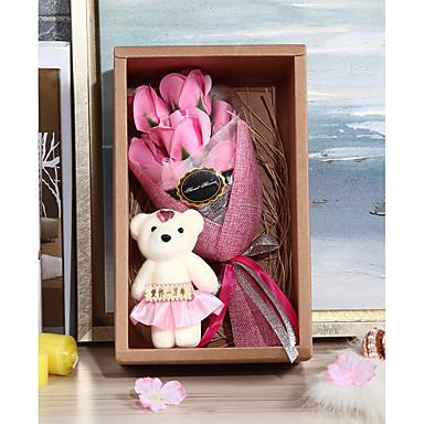 חתונה יום הולדת מצדדים ומתנות מפלגה - מתנות דוב קשת סטאן פרחים מיובשים רומנטיקה