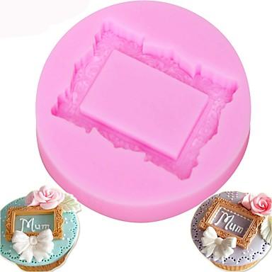 עוגת סיליקון עובש טבעת פרח מסגרת מסגרת פונדנט סבון עובש עוגה כלי לקשט