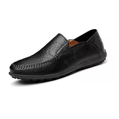 Férfi cipő Fordított bőr Tavasz / Ősz Kényelmes Papucsok & Balerinacipők Fekete / Barna
