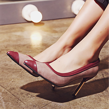 Aiguille Talon Printemps Talons Personnalisées Bout Matières Noir Automne pointu Chaussures Confort 06554296 Femme à Similicuir Chaussures RfPqxwnvT