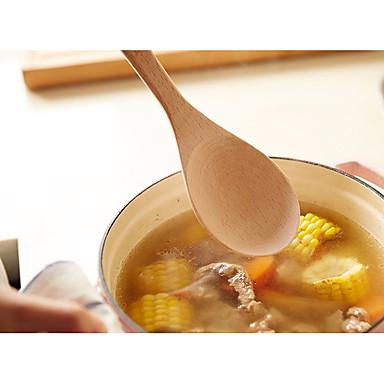 כלי מטבח עץ נייד כפית 1pc