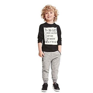 סט של בגדים כותנה גיאומטרי / גלקסיה / דפוס ספורט / בית הספר / חגים פשוט / וינטאג' / יום יומי בנים פעוטות / סרוג / פעיל / בסיסי / ליציאה / סגנון רחוב
