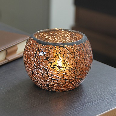billige Stearinlys og lysestaker-Enkel Stil / Moderne / Nutidig Glass Lysestaker 1pc, Stearinlys / Stearinlysholder