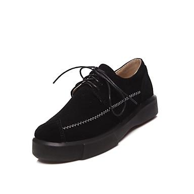 Cuir Printemps Bout Automne rond Noir Creepers Amande 06554315 Femme Confort Nubuck Oxfords Vert Chaussures tqTS8pxn5