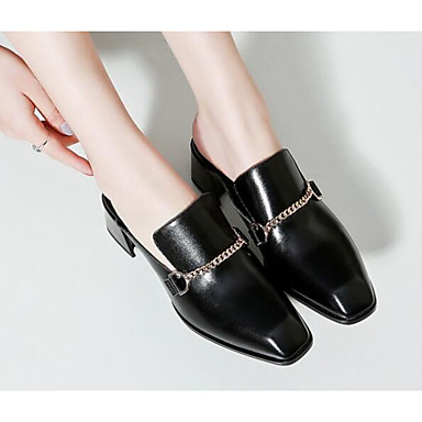 Talon Chaussures Marron Bottier Cuir amp; 06581955 Mules Femme Automne Sabot Confort Printemps Noir a8CSdSxwq