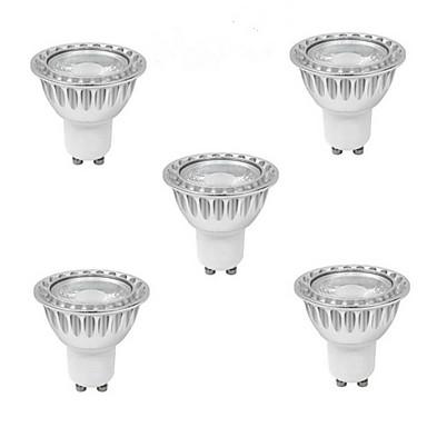 5pcs 5W 400-500 lm GU10 LED-spotpærer 1 leds COB Varm hvit Kjølig hvit Naturlig hvit 85-265V