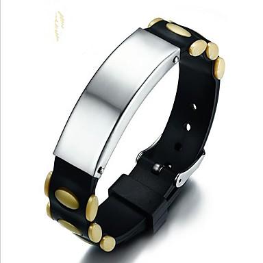 voordelige Herensieraden-Heren Armband Modieus Hard kunststof Armband sieraden Zwart / Geel / Groen Voor Lahja Dagelijks