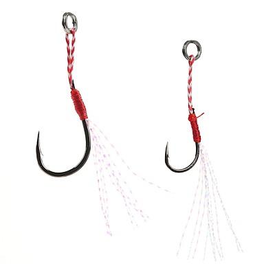 billige Fiskekroker-5 pcs Fiskekroke Tynn Hengespiker Søfisking / Agn Kasting / Spinne Jigkrok / Vippefiskeri / Ferskvannsfiskere / Bass Fiske / Lokke Fiske / Generelt fisking