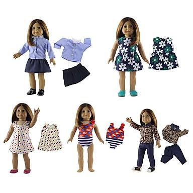preiswerte Puppen-Mädchen Puppe Modepuppe Baby Mädchen 18 Zoll Umweltfreundlich Kindersicherung Non Toxic Einfaches An- und Ausziehen Handaufgetragene Wimpern Gekippte und versiegelte Nägel Kinder Mädchen Spielzeuge