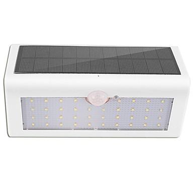 abordables Éclairage Extérieur-1pc 3 W Applique murale Imperméable / Solaire / Capteur infrarouge Blanc 3.7 V Eclairage Extérieur 38 Perles LED