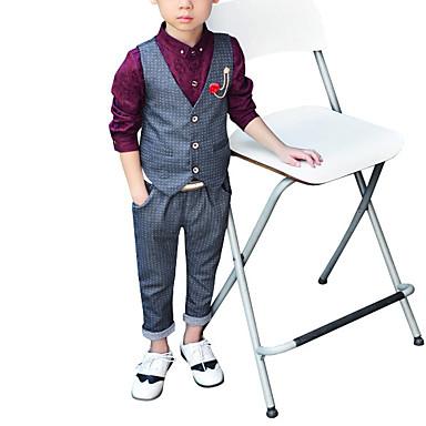 billiga Pojkset-Småbarn Pojkar Enkel Enfärgad Modern Stil Ärmlös Klädesset Grå