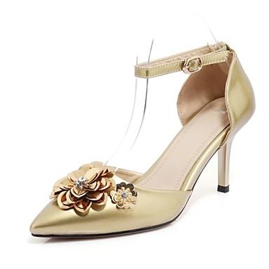 Bout Personnalisées pointu Talon Printemps Automne Aiguille Confort Chaussures Or Matières Talons à Chaussures 06600673 Argent Femme 7EwpPq