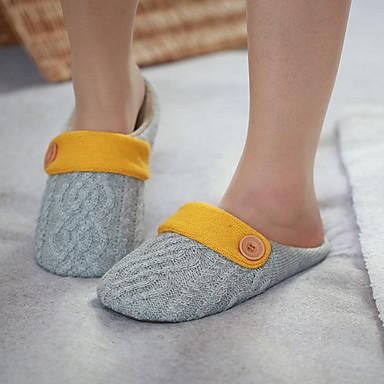 כפכפי נשים נעלי בית רגיל פוליאסטר צבע אחיד
