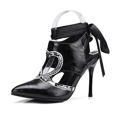 Aiguille Noir Talon Escarpin Chaussures Talons Chaussures Blanc à Femme Printemps 06600674 Automne Basique Similicuir Bout pointu xvz6wqwB