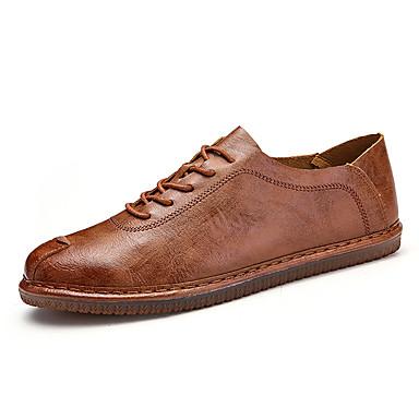 בגדי ריקוד גברים נעליים עור נאפה Leather / עור אביב נוחות / מוקסין נעלי אוקספורד הליכה שחור / חום / חאקי