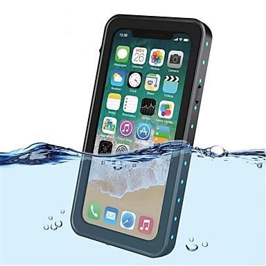 מגן עבור Apple iPhone X עמיד במים / עמיד בזעזועים / שקיפות כיסוי מלא צבע אחיד קשיח פלסטי ל iPhone X