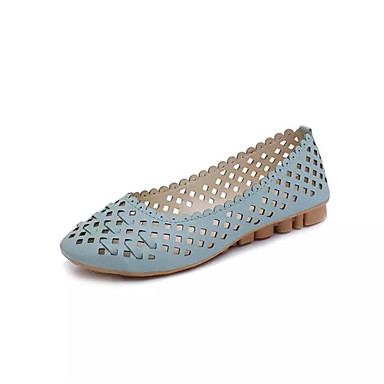 Mulheres Sapatos Couro Ecológico Verão Conforto Sandálias Caminhada Salto Plataforma Dedo Aberto Presilha para Casual Branco Preto Azul