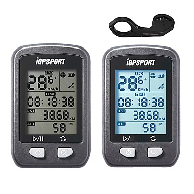 iGPSPORT® IGS20E Computerino da bici Tachimetro ciclistico GPS Cronometro Ompermeabile Senza fili controluce LCD Tachimetro Ciclismo /