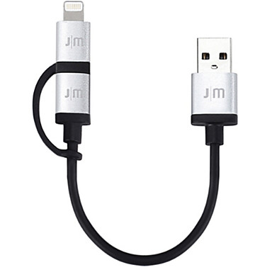 Micro USB / Oświetlenie Adapter kabla USB Wysoka prędkość / Szybka opłata Kable Na iPhone 10 cm Na TPE