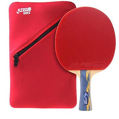 DHS® E506 Ping Pang/מחבטי טניס שולחן עץ גוּמִי 5 כוכבים ידית ארוכה פצעונים