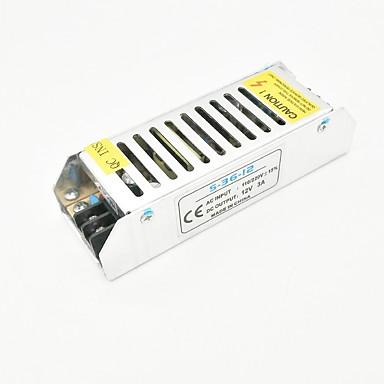ZDM® 1 szt. 110/220   12 V Akcesoria do taśm świetlnych / Adapter Zasilanie Aluminium Srebrny 36 W