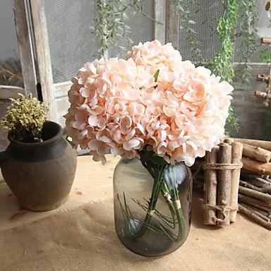 billige Kunstige blomster-Kunstige blomster 5 Gren Enkel Stil Bryllupsblomster Hortensiaer Bordblomst