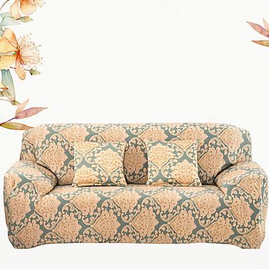סגנון אומנותי סגנון מודרני 100% פוליאסטר ג'אקארד כיסוי ספה דו מושבית, פשוט פרחוני הדפס כיסויים
