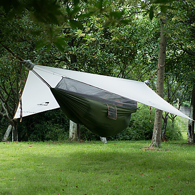 Naturehike 1 Pessoa Rede Abrigo e Lona Encerada Duplo Barraca de acampamento Um Quarto Tenda Dobrada Portátil Dobrável para Campismo