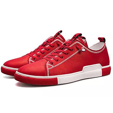 Męskie Komfortowe buty PU Wiosna / Jesień Adidasy Biały / Czarny / Czerwony