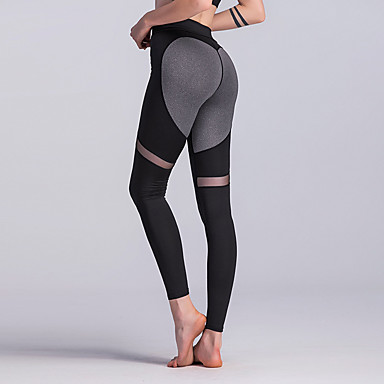 c1a2d8ff1aaab Women's Patchwork Yoga Pants Sports Color Block High Rise Leggings Zumba  Running Fitness Activewear Soft Butt