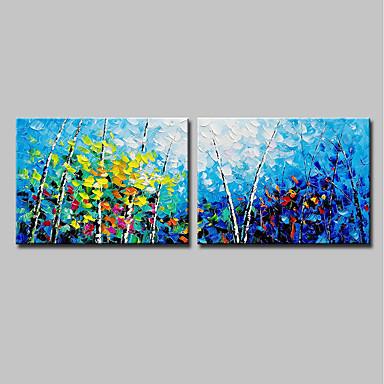 ציור שמן צבוע-Hang מצויר ביד - L ו-scape פרחוני / בוטני מודרני בַּד